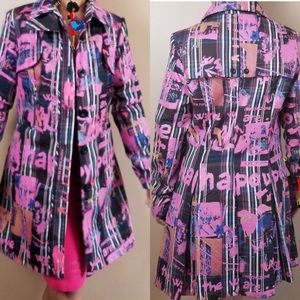Desigual  Abstracto Print Trench Coat Size…